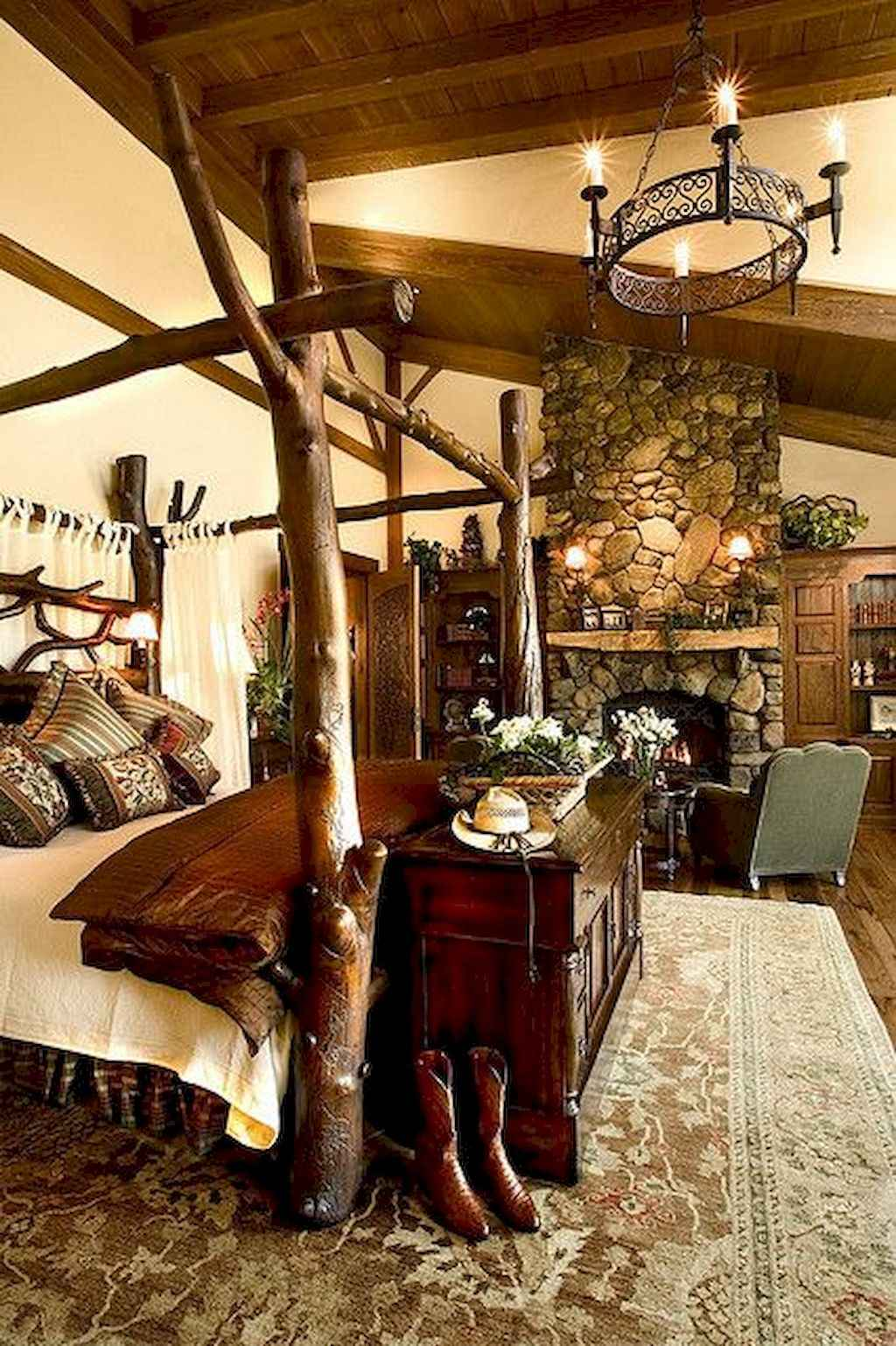 Gorgeous rustic master bedroom design & decor ideas (44)