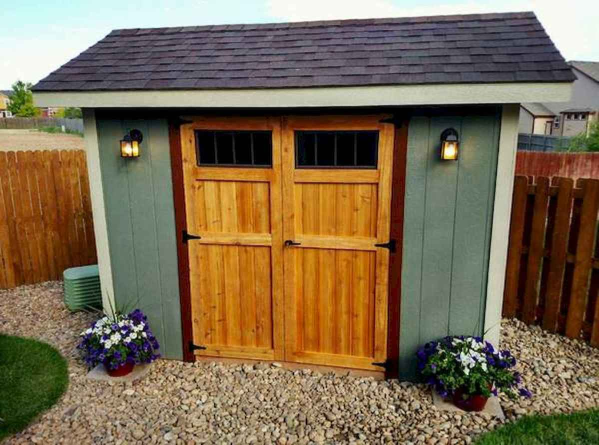 Incredible backyard storage shed makeover design ideas (10)