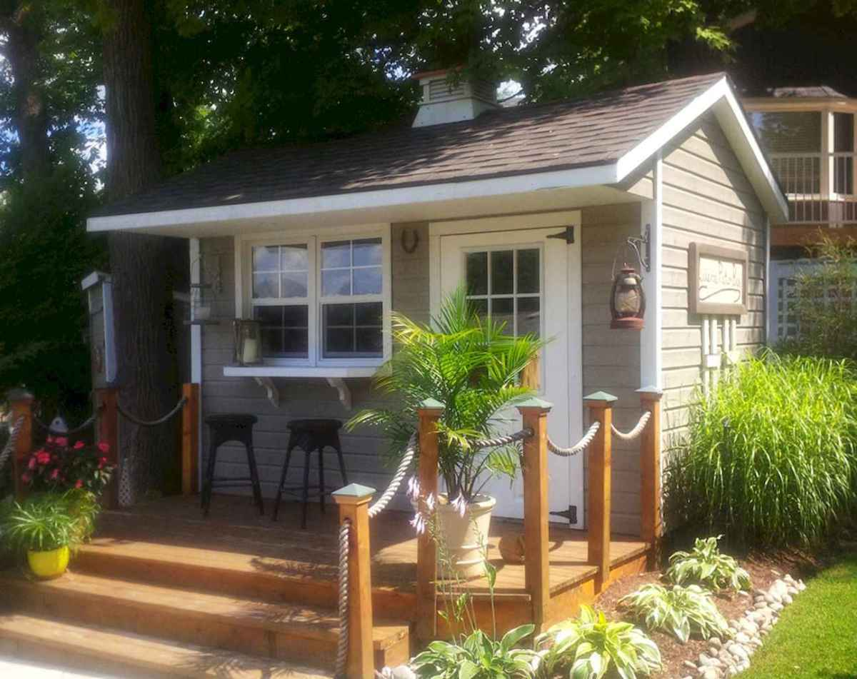 Incredible backyard storage shed makeover design ideas (20)