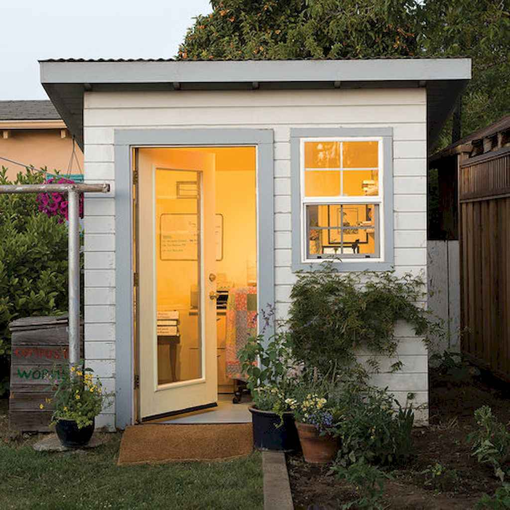 Incredible backyard storage shed makeover design ideas (6)