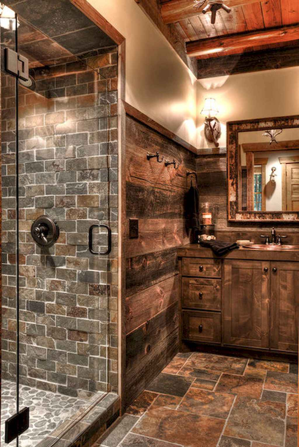 Inspiring rustic bathroom decor ideas (23)