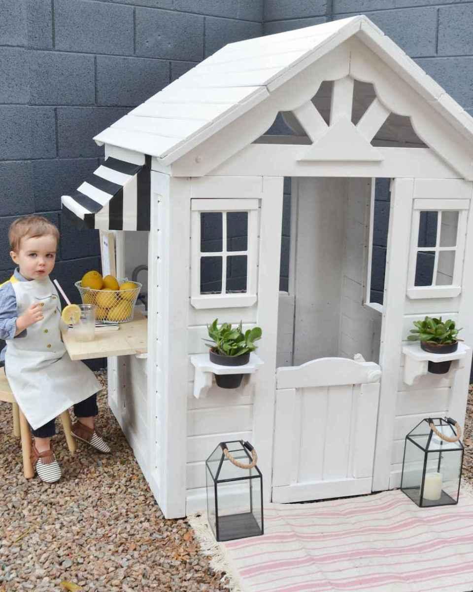 Magically sweet backyard playhouse ideas for kids garden (11)