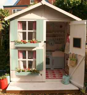 Magically sweet backyard playhouse ideas for kids garden (2)
