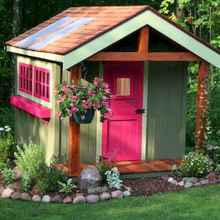 Magically sweet backyard playhouse ideas for kids garden (20)