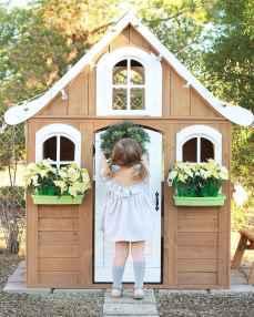 Magically sweet backyard playhouse ideas for kids garden (21)