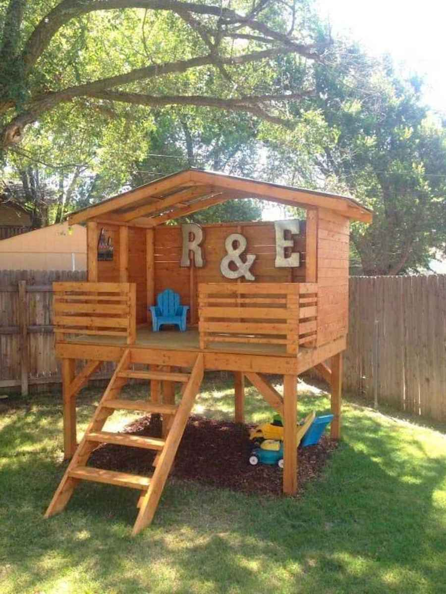 Magically sweet backyard playhouse ideas for kids garden (24)