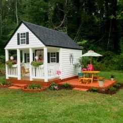 Magically sweet backyard playhouse ideas for kids garden (26)