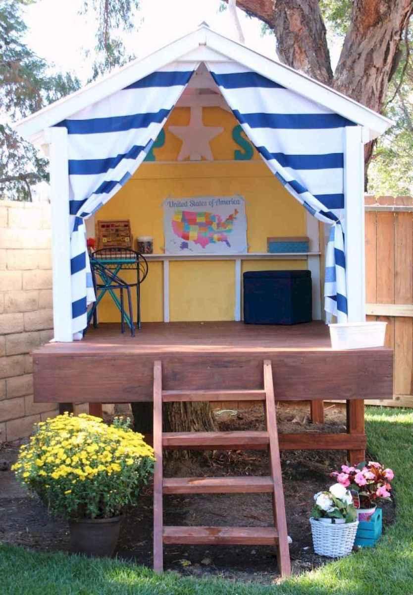 Magically sweet backyard playhouse ideas for kids garden (35)