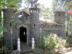 Magically sweet backyard playhouse ideas for kids garden (38)