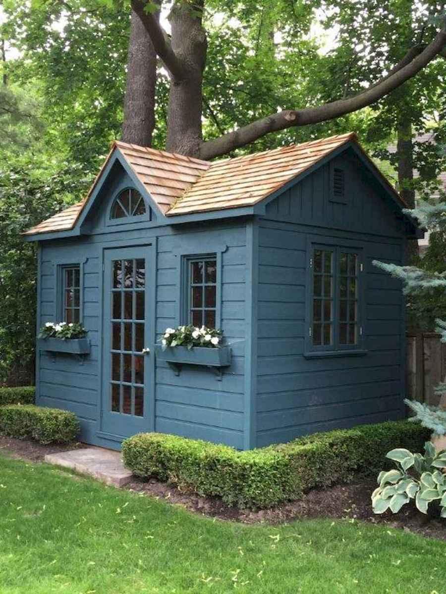 Magically sweet backyard playhouse ideas for kids garden (39)