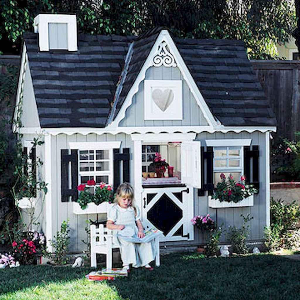 Magically sweet backyard playhouse ideas for kids garden (5)