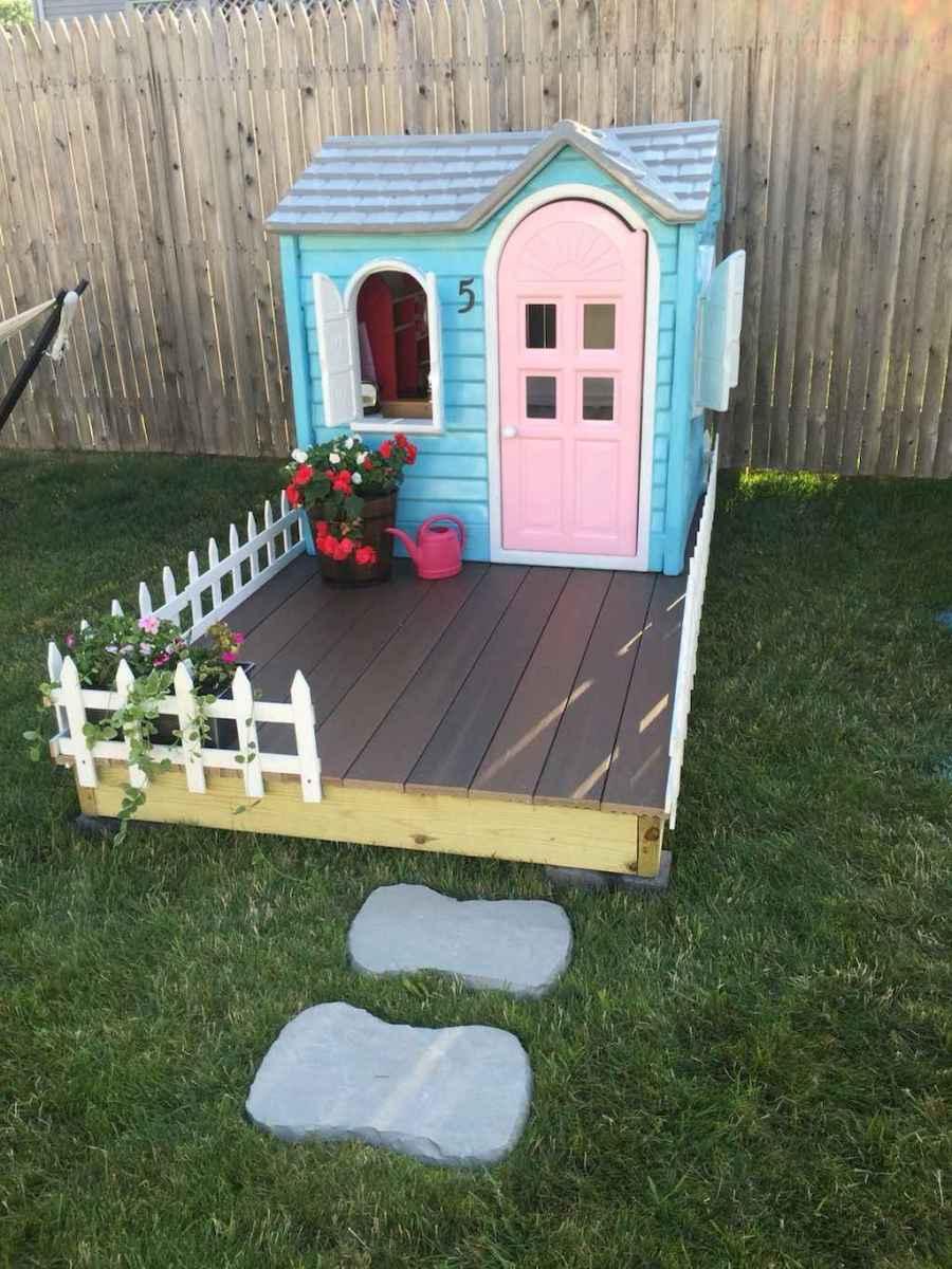 Magically sweet backyard playhouse ideas for kids garden (6)