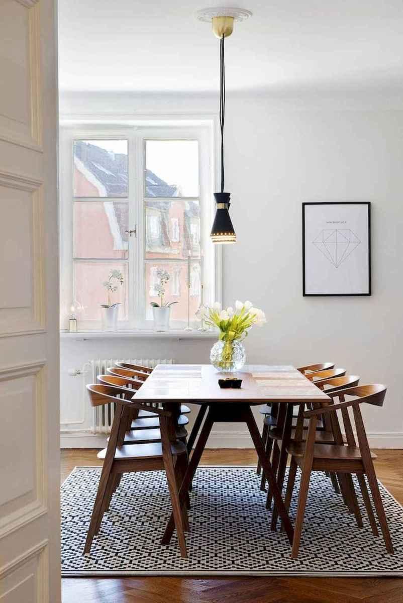 Modern mid century dining room table ideas (27)