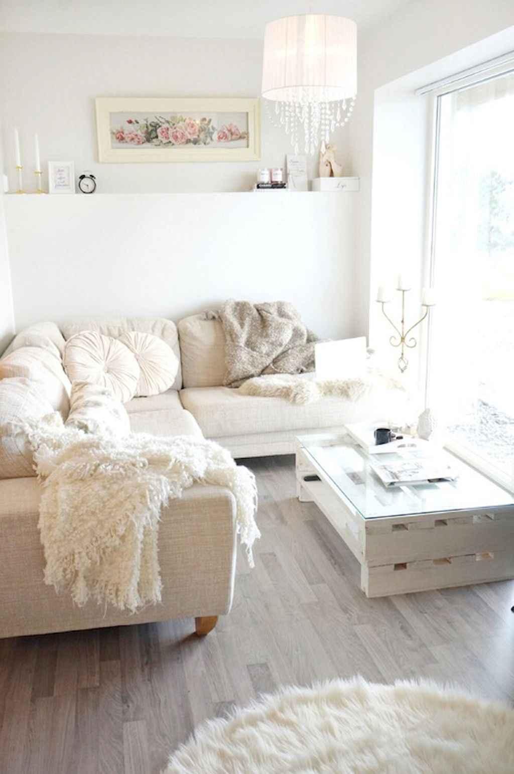 Romantic shabby chic living room decoration ideas (19)