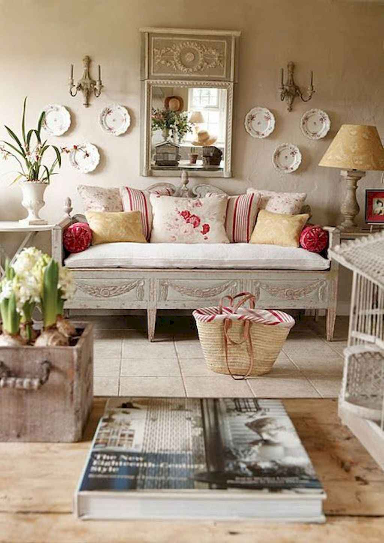 Romantic shabby chic living room decoration ideas (34)