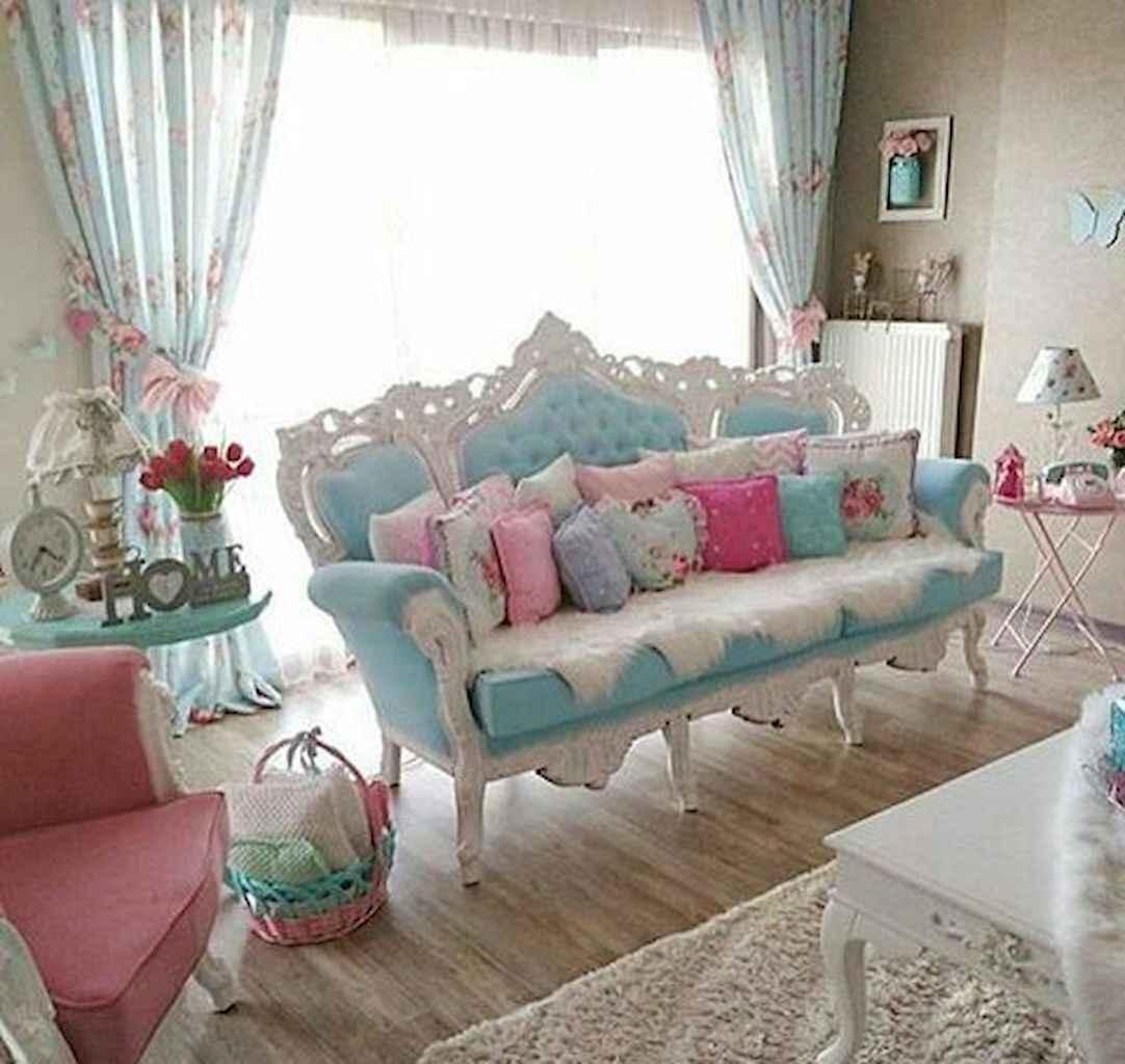 Romantic shabby chic living room decoration ideas (38)