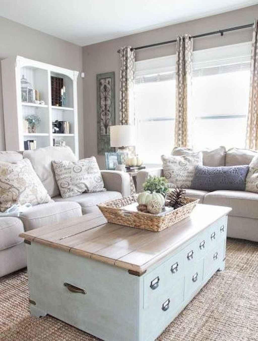 Romantic shabby chic living room decoration ideas (4)