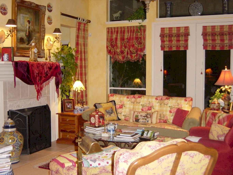 Romantic shabby chic living room decoration ideas (8)