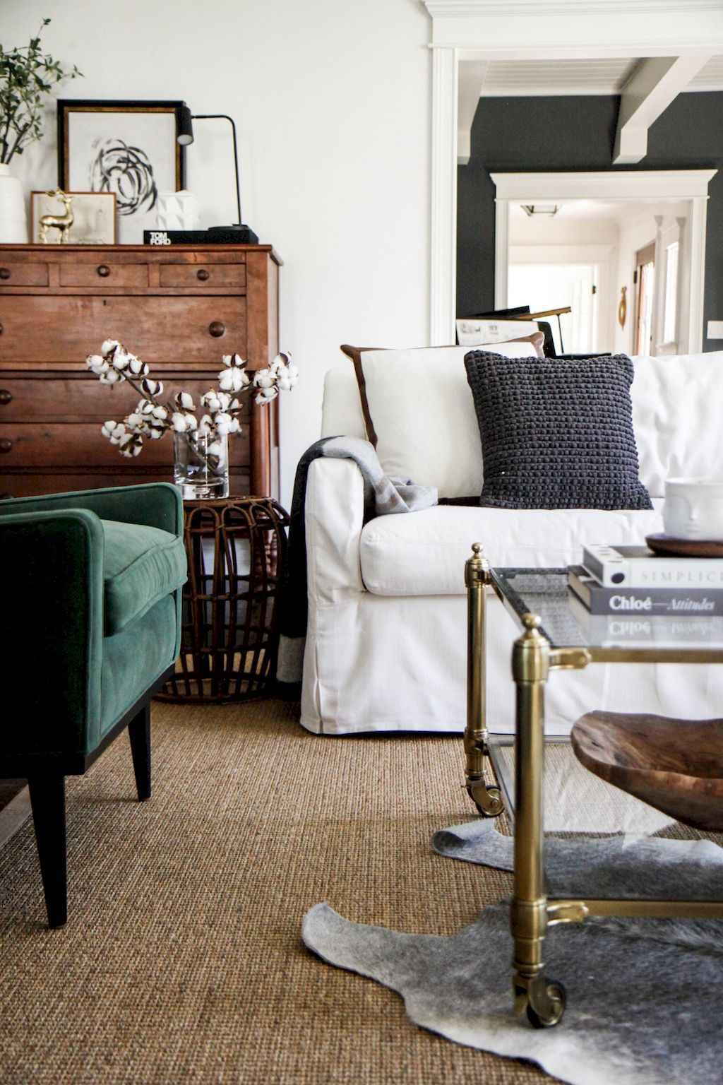 Simple clean vintage living room decorating ideas (16)