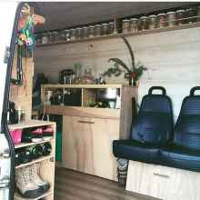 Best rv camper van interior decorating ideas (14)