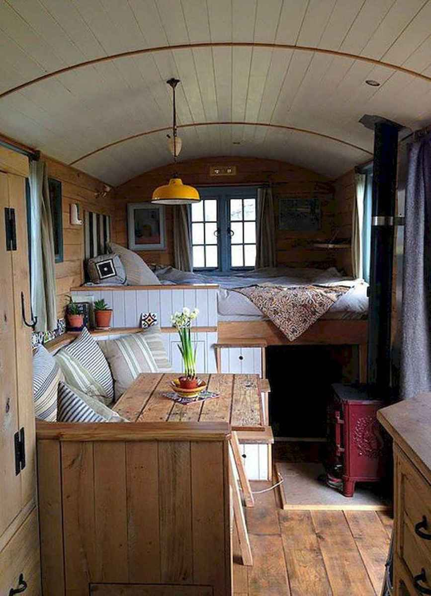Best rv camper van interior decorating ideas (23)