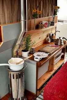 Best rv camper van interior decorating ideas (82)