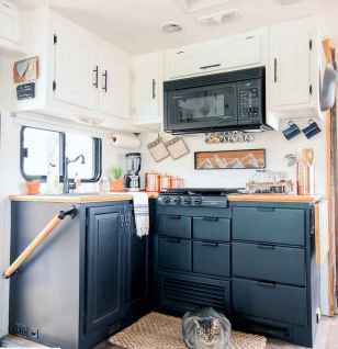 Best travel trailers remodel for rv living ideas (38)