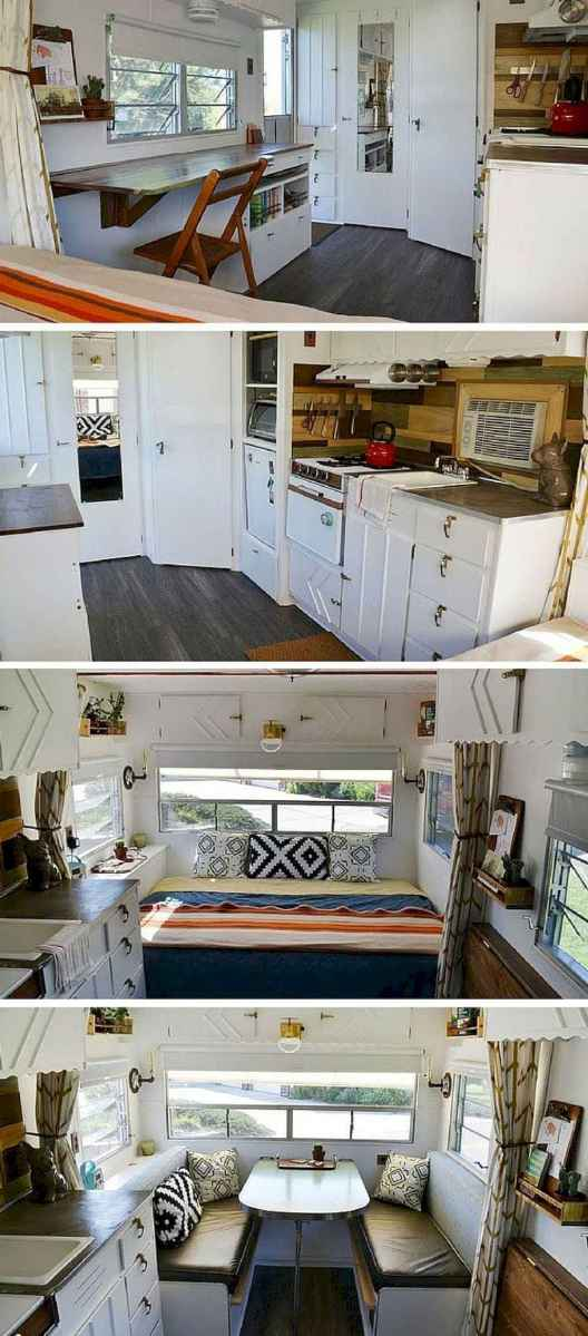 Best travel trailers remodel for rv living ideas (39)