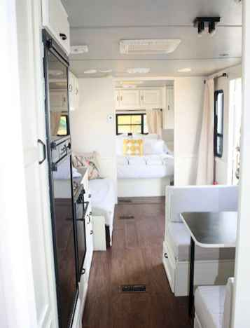 Best travel trailers remodel for rv living ideas (53)