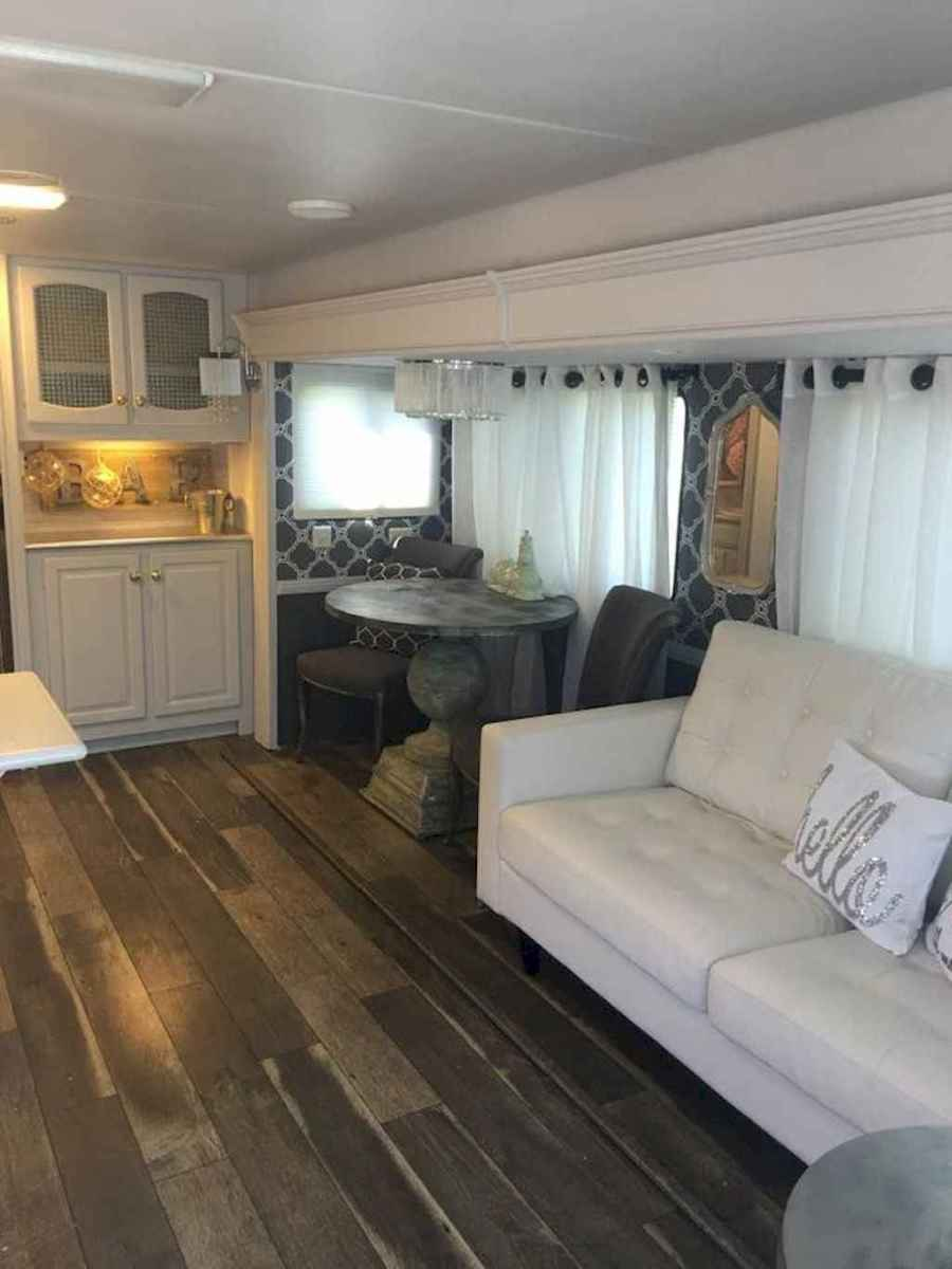 Best travel trailers remodel for rv living ideas (56)