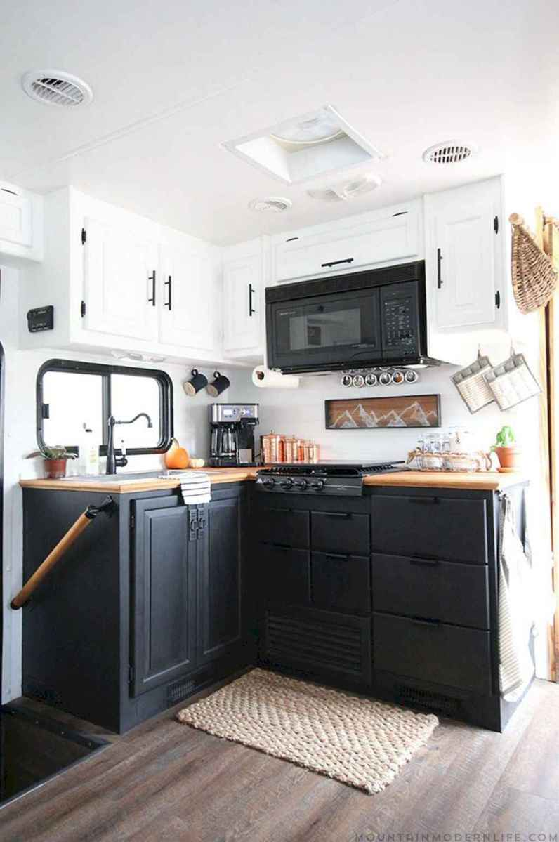 Best travel trailers remodel for rv living ideas (68)