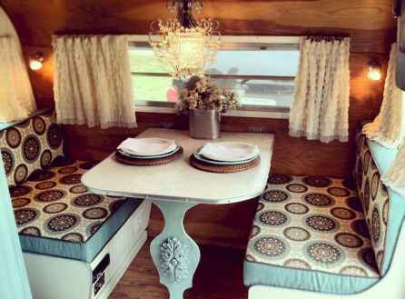 Best travel trailers remodel for rv living ideas (75)