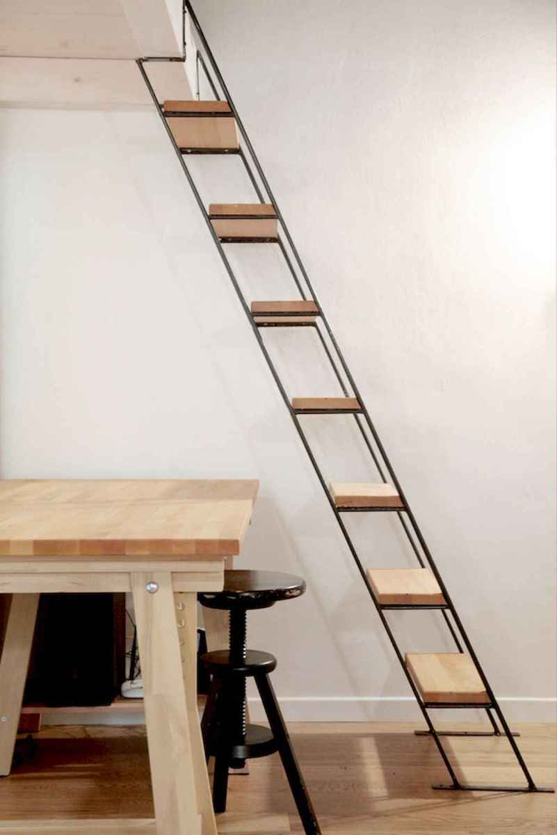 Creative loft stair with space saving ideas (51)