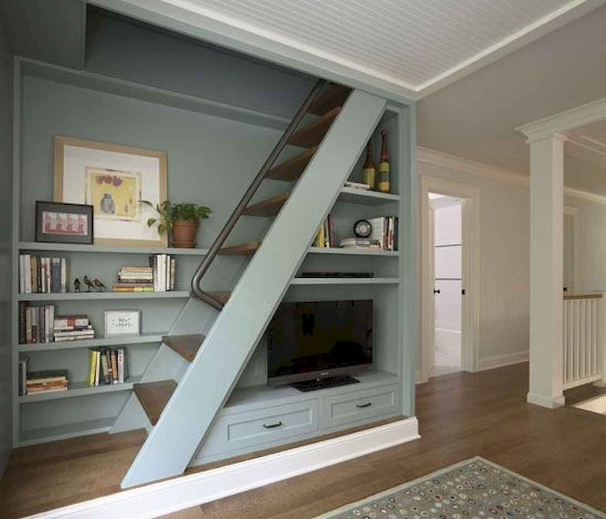 Creative loft stair with space saving ideas (79)
