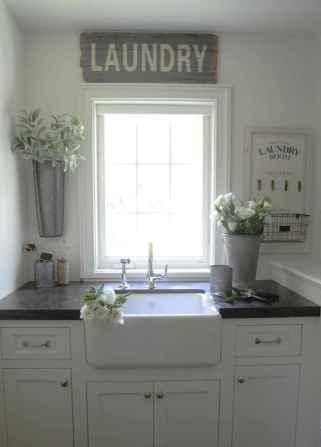 Farmhouse style laundry room makeover ideas (51)