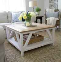 Rustic farmhouse coffee table ideas (13)