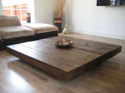 Rustic farmhouse coffee table ideas (27)