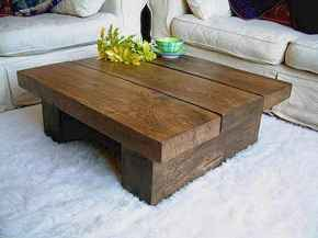 Rustic farmhouse coffee table ideas (40)