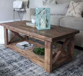 Rustic farmhouse coffee table ideas (41)