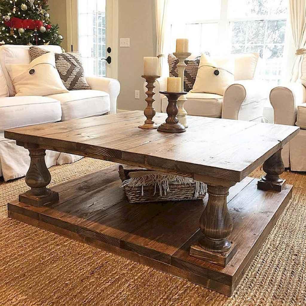 Rustic farmhouse coffee table ideas (47)