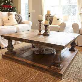 Rustic farmhouse coffee table ideas (47)