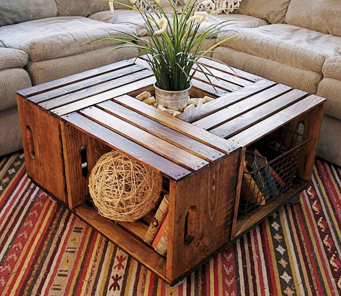 Rustic farmhouse coffee table ideas (70)