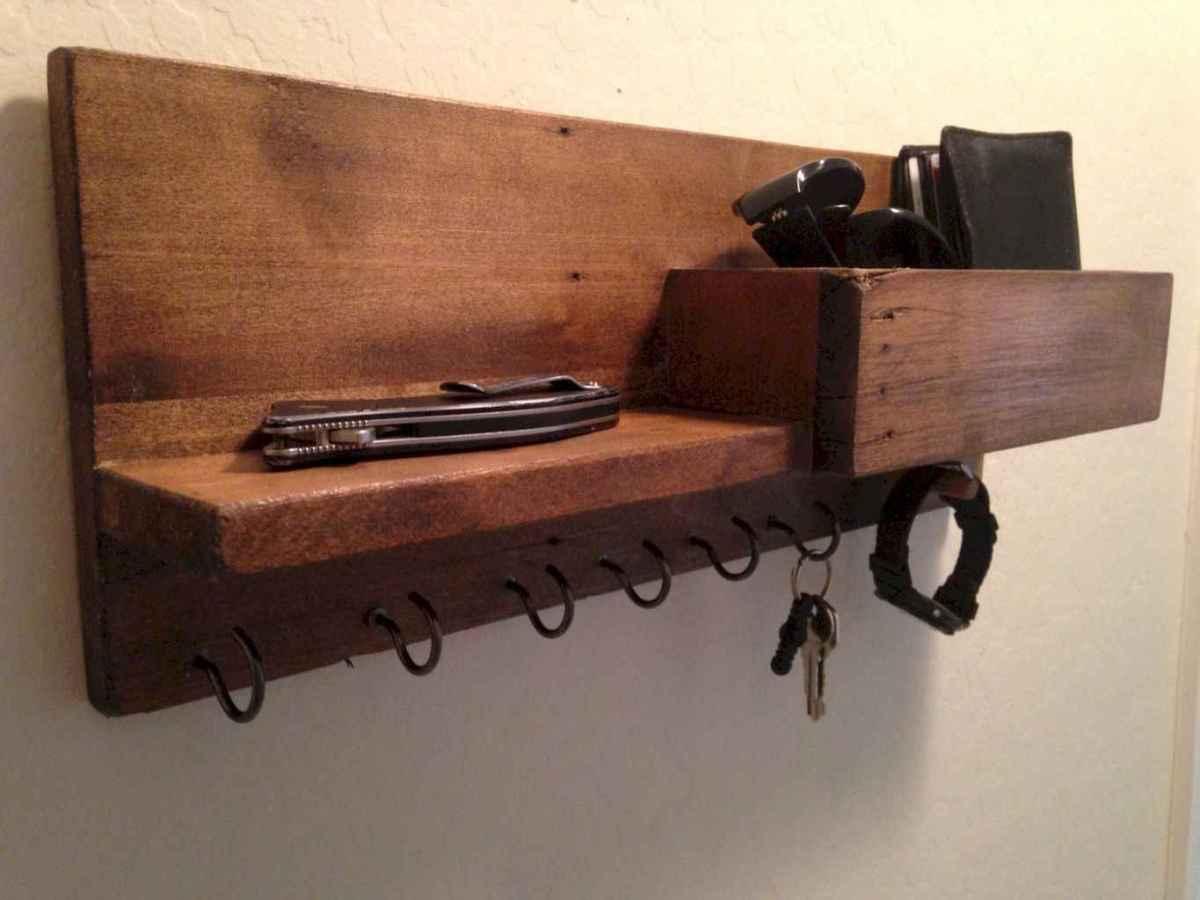 Rustic key holder organized ideas (19)