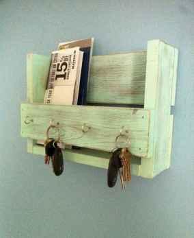 Rustic key holder organized ideas (35)