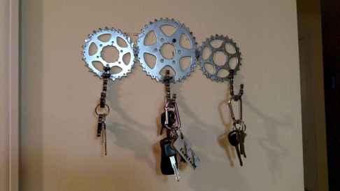Rustic key holder organized ideas (43)