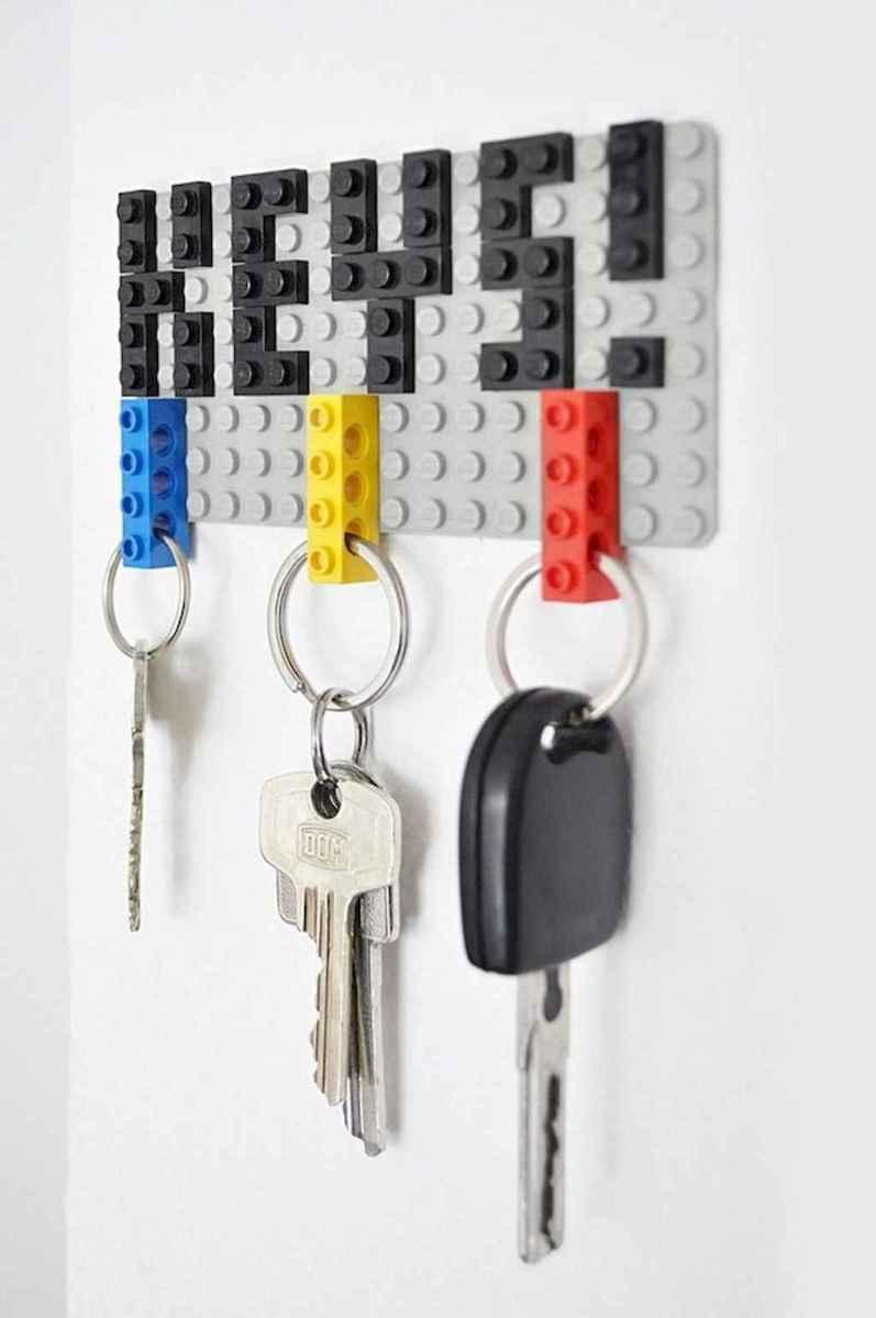 Rustic key holder organized ideas (6)