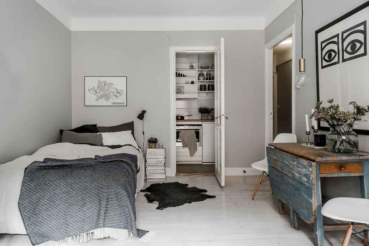 Small apartment studio decorating ideas on a budget (80)