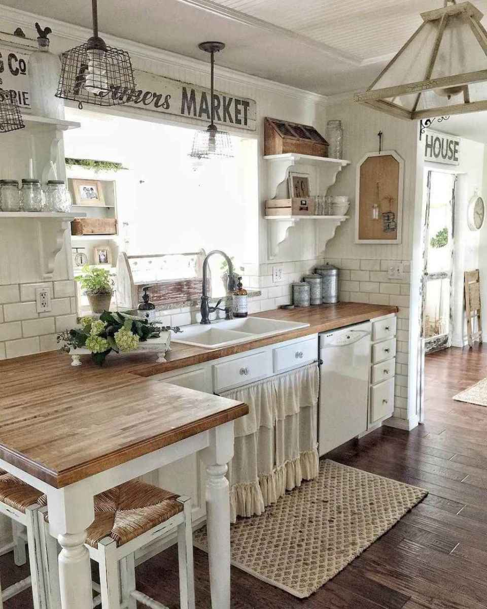 Best rustic farmhouse kitchen cabinet makeover ideas (29 ...