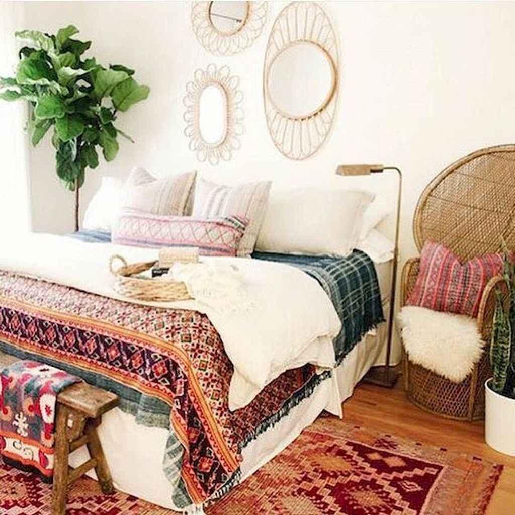 Bohemian style modern bedroom ideas (23)