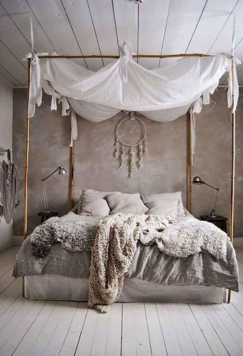 Bohemian style modern bedroom ideas (30)